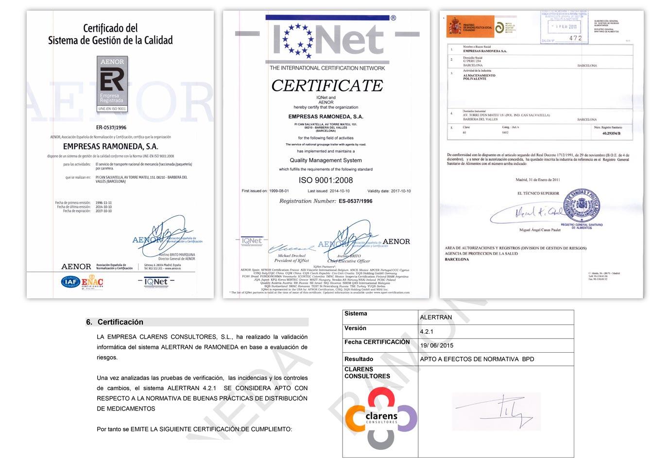 RDA certificaciones